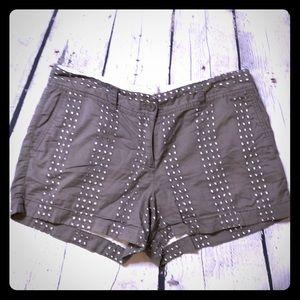 Taupe color Ann Taylor Loft shorts size 10 orig.